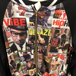 Women's hip hop print jacket